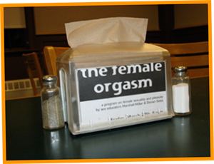 Female Orgasm Napkin Dispensers at Simmons Cafeteria